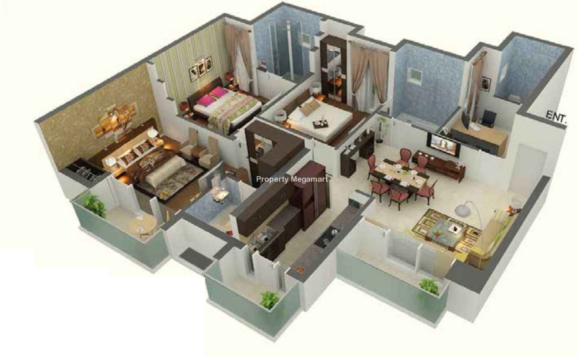 100 sobha jasmine floor plan 1559 sq ft 3 bhk 3t for T furniture wagholi